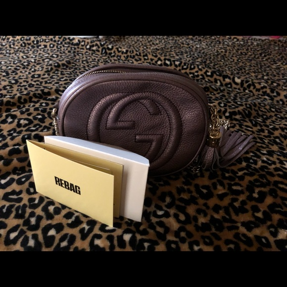 Gucci Handbags - Gucci soho mini purple gold chain crossbody